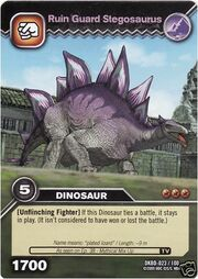 Stegosaurus-Ruin Guard TCG Card