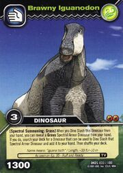 Iguanodon-Muscular TCG Card (German)
