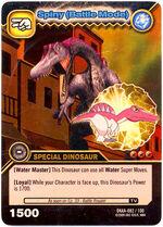 Spinosaurus - Spiny Battle Mode TCG Card 2-DKAA-Gold