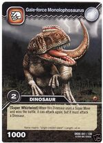 Monolophosaurus-Gale-force TCG Card
