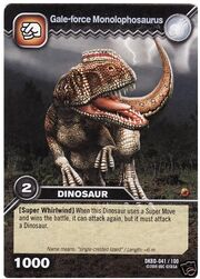 Monolophosaurus-Gale-force TCG Card