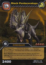 Pentaceratops Black TCG Card (foreign)