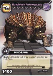 Ankylosaurus-Roadblock TCG Card