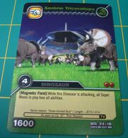 Triceratops-Tranquil TCG Card 1-Silver (French)