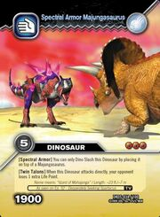 Majungasaurus armor TCG card