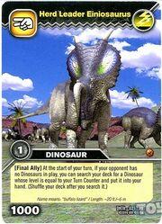 Einiosaurus-Troop Leader TCG Card (French)