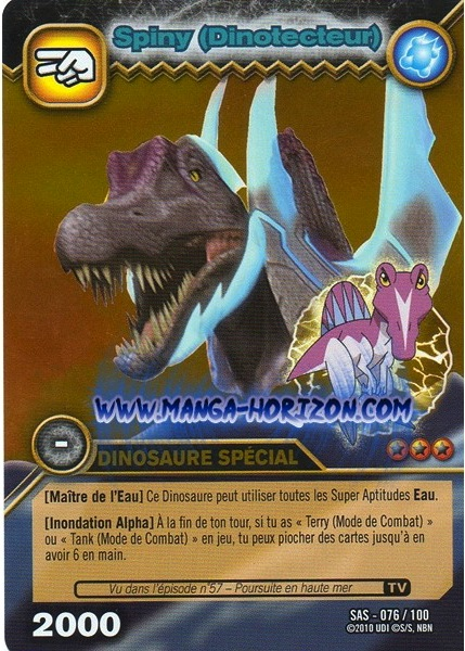Spinosaurus Spiny Dinotector Tcg Card 1 Dkds Gold Png