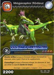 Megaraptor-Prowling TCG Card 1-Gold (French)
