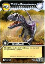 Ceratosaurus-Spinning TCG Card (French)