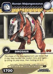 Majungasaurus-Roman TCG Card (German)