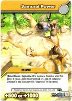 Samurai Power TCG Card (French)