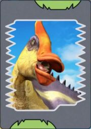 Saurolophus (orange-crested) card