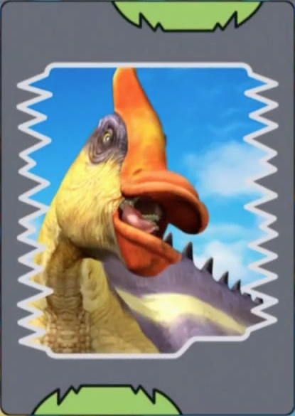 Image saurolophus orange crested dinosaur for Paris orange card