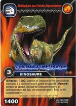 Abelisaurus-Razor-tooth TCG Card (French)