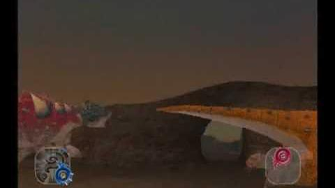 Dinosaur King Arcade Game Battle Scene Pawpawsaurus