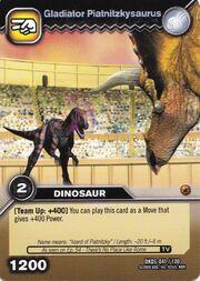Piatnitzkysaurus-Gladiator TCG Card (German)