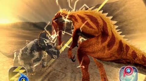Dinosaur King Arcade Game 恐竜キング - Monoclonius モノクロニウス VS the Alpha Fortress Easy