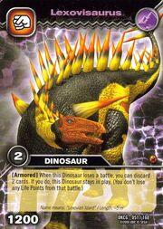 Lexovisaurus TCG card