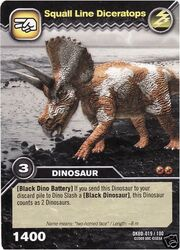 Diceratops-Squall Line TCG Card