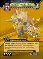 Triceratops - Chomp DinoTector TCG Card 3-DKTA