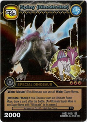 Spinosaurus - Spiny DinoTector TCG Card 1-DKDS-Gold