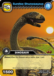 Shunosaurus-Sunrise TCG Card