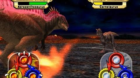 Dinosaur King Arcade Game 恐竜キング - Super Alpha Acrocanthosaurus VS Operation-Dinosaur Rescue