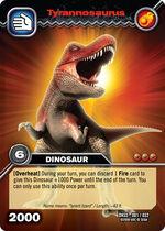 Tyrannosaurus TCG card