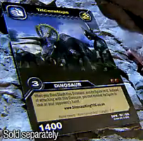Triceratops TCG Card 3b