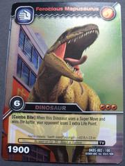 Mapusaurus-Ferocious TCG Card 1-Silver