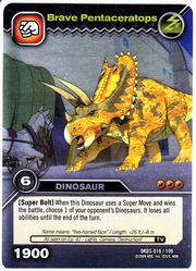 Pentaceratops-Brave TCG Card 1-Silver 1a
