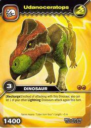 Udanoceratops TCG card