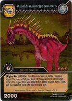 Amargasaurus alpha TCG card