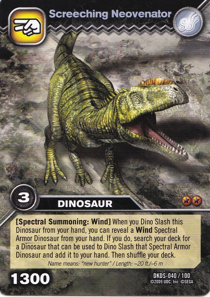 Neovenator dinosaur king fandom powered by wikia - Carte dinosaure king ...