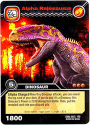 Alpha Rajasaurus card