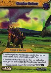 Quake Saber TCG Card 1-Silver