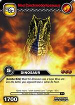 Carcharodontosaurus mad TCG card