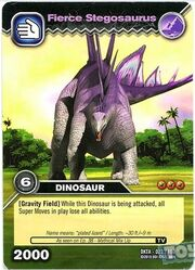 Stegosaurus-Fierce TCG Card (French)