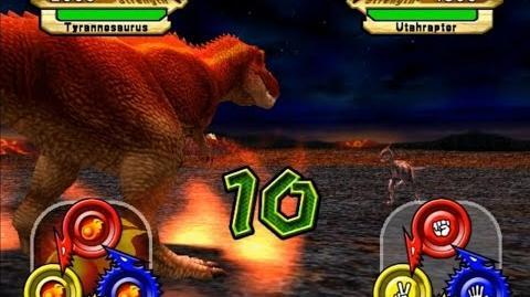 Dinosaur King Arcade Game 恐竜キング - Tyrannosaurus VS Operation-Dinosaur Rescue