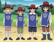 Teen Musketeers in Uniform