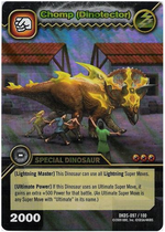 Triceratops - Chomp DinoTector TCG Card 2-DKDS-Collosal