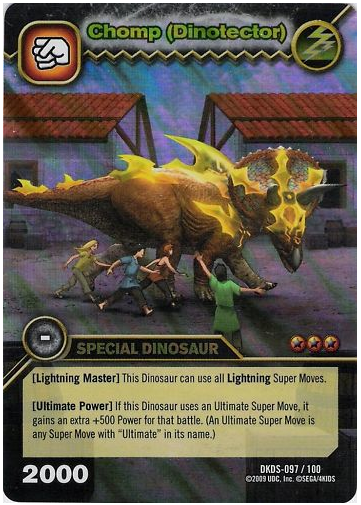 Dinosaur King Triceratops Move Cards