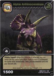 Arrhinoceratops Alpha TCG Card