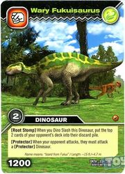 Fukuisaurus-Suspicious TCG Card (French)