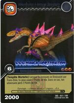 Afrovenator Spectral Armor TCG Card 1-Silver (French)