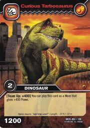 Tarbosaurus-Curious TCG Card (German)