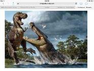 Gorgosaurus vs deinosuchus