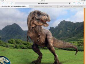 Jurassic world tyrannosaurus