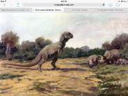 Old t.rex vs triceratops