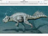 Koreaceratops swimming